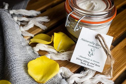 Ylang ylang and rose body butter