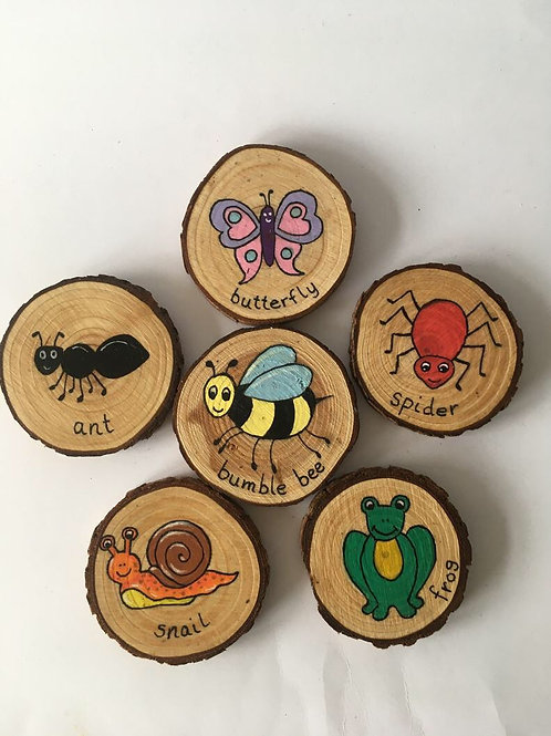 Rustic Nature Slices - set of 6