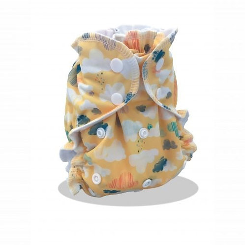 AppleCheeks Washable Nappy Envelope Cover One-Size - Why So Cirrus
