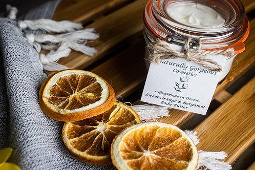 Sweet orange and bergamot body butter