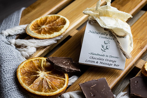 Chocolate orange scented massage and lotion bar
