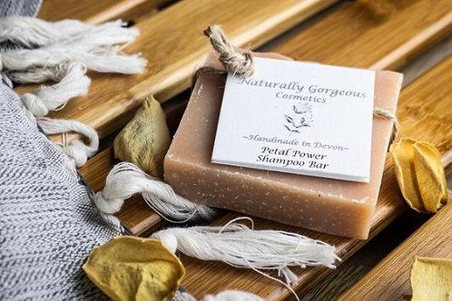 Petal Power solid shampoo bar