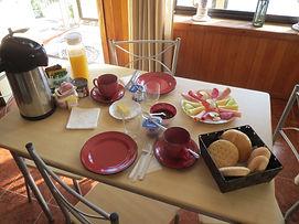 desayunos cabañas el mediteraneo