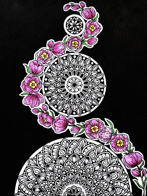 Floral Mandala (Original Handmade)