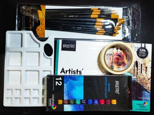 Watercolor Material Kit Combo 2
