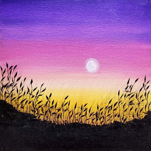 Acrylic Dreamy Sunset