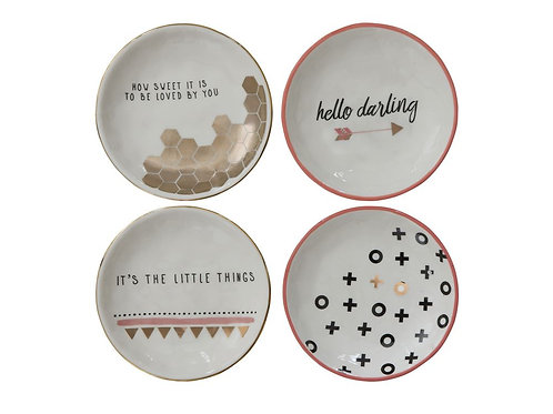 Round Stoneware Plates (set of 4)