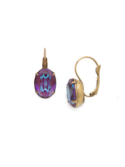 Oval Cut Crystal French Earring