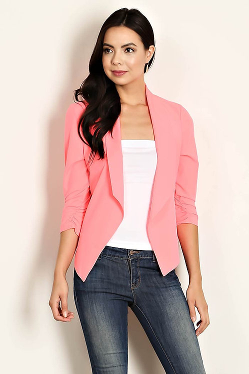 Lightweight Pink Blazer Jacket