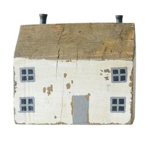 Mango Wood & Metal House