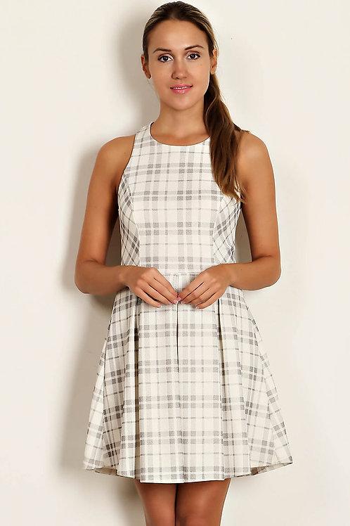 Plaid Print Woven Dress