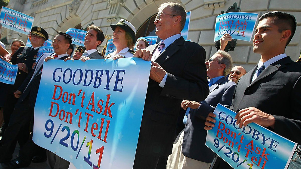 Don't Ask, Don't Tell was repealed in 2011 under President Barack Obama (Image Source: Justin Sullivan/Getty Images)