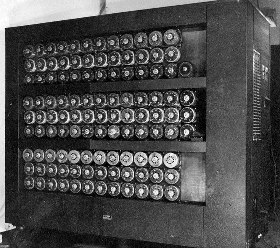The Bletchley Park bombe that was in active use during WW2 to decode Nazi messages. (Image Source: Unknown)