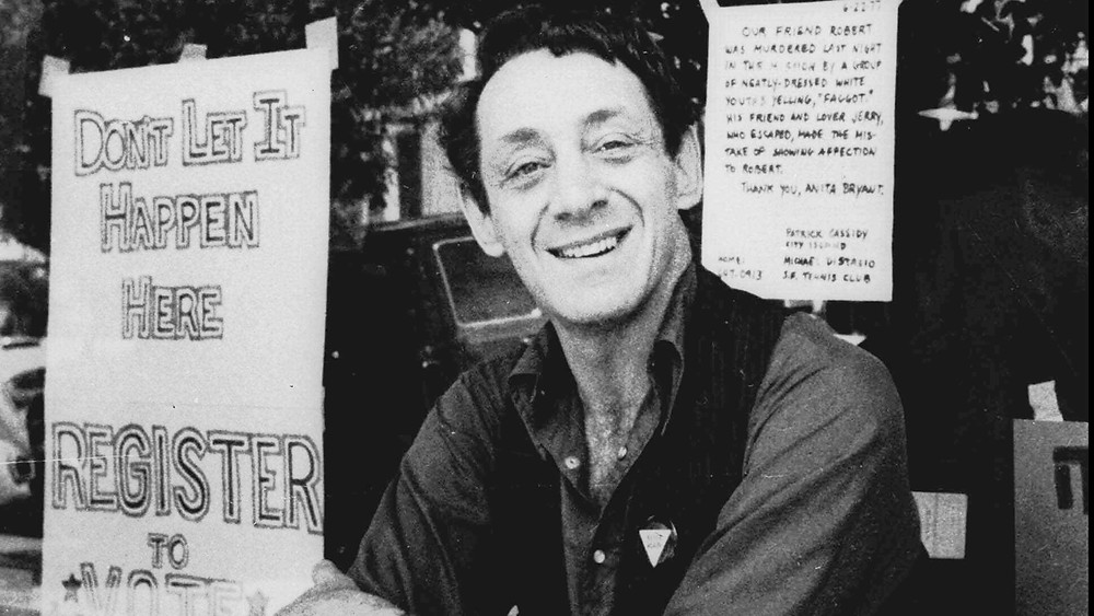 Harvey Milk was the first openly gay elected official in California (Image Source: AP Photo)