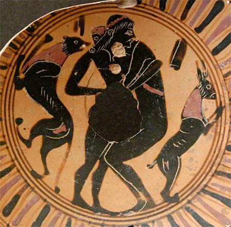 Fragment of an Attic cup showing homosexual intercourse, 550-525 BCE (Image Source: Collection the Louvre Museum)