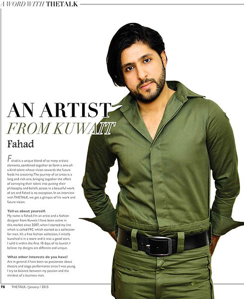 FAHAD FOR THE TALK MAGAZINE