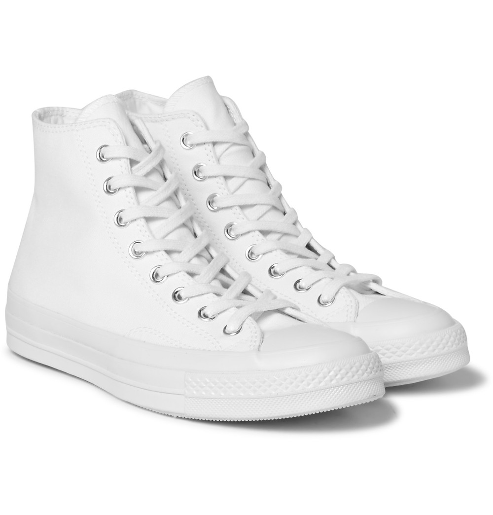 CONVERSE 1970S CHUCK TAYLOR ALL STAR CANVAS HIGH-TOP SNEAKERS (THE ATHELETE FOOT)