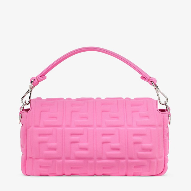 Iconic Fendi Baguette neon pink bag حقيبة فندي باغيت لون وردي