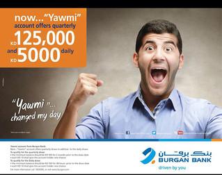 "Burgan Bank ""Yawmi"" حساب "" يومي"" بنك برقان"