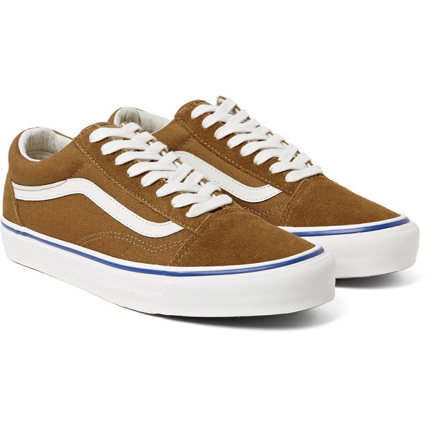 VANS OG OLD SKOOL LX SUEDE AND CANVAS SNEAKERS