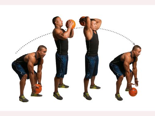 4 تمارين مهمة باستخدام الكره الطبيه الكرة الطبية لنحت الجسم