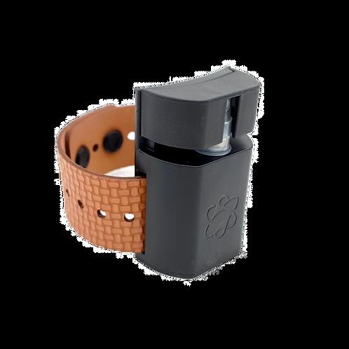 Wearable Sanitizer - سوار التعقيم (Black/Brown) V2.0