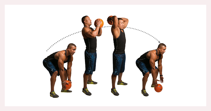 4 important exercises using the medicine ball to sculpt the body