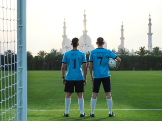 فندق الريتز -كارلتون أبوظبي، القناة الكبرى يفتتح ملعباً لكرة القدم والركبي