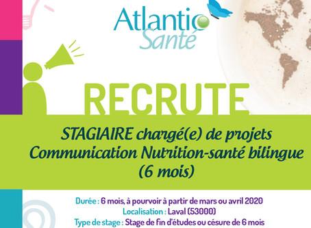 [STAGE] chargé(e) de projets Communication Nutrition-santé bilingue (6 mois)