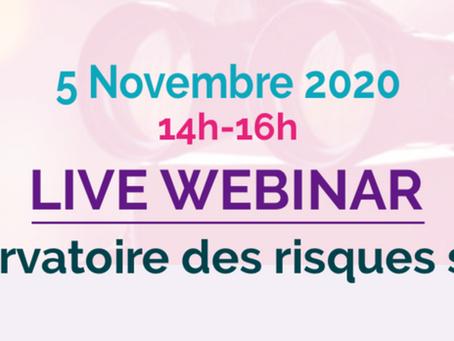 Live Webinar Observatoire des  Risques santé