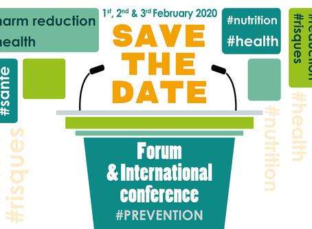 Forum et Conférence Internationale Prévention Santé Nutrition 1,2 & 3 février 2020 à Paris
