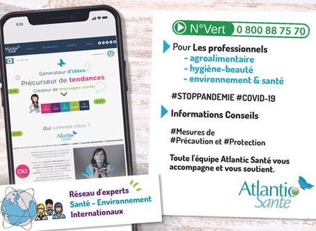 Atlantic Santé vous accompagne et propose un numéro VERT pour les entreprises