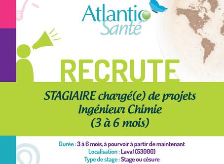 [STAGE] Chargé(e) de projets Ingénieur Chimie (3-6mois)