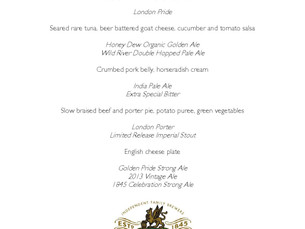 Fuller's Beer Dinner at the Caledonian Hotel