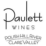 This is the logo for Paulett Wines, this is a standard logo and just features the text 'Paulett Wines' and 'Polish Hill River Clare Valley'