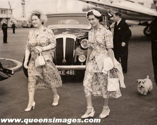 Queen Mother and  Princess Margaret
