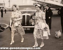 Queen Mother and  Princess Margaret