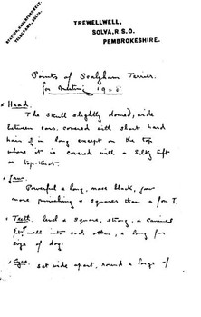 Points of Sealyham Terrier