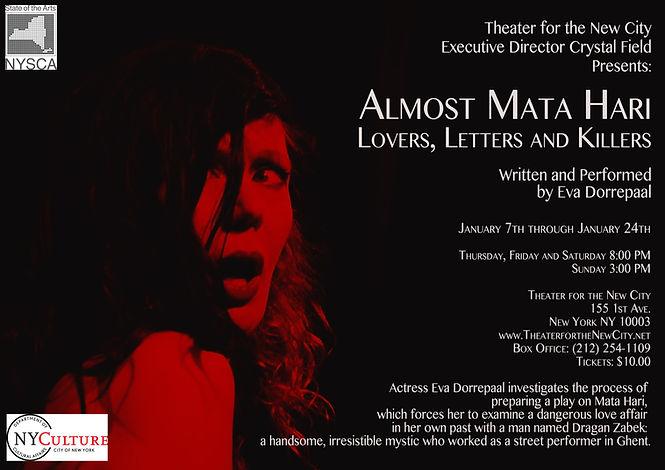 Mata Hari, Almost Mata Hari, one-man-show, Eva Dorrepaal
