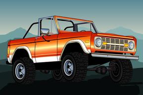 Orange Ford Bronco