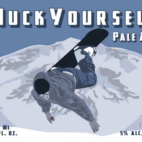 Huck Yourself Label