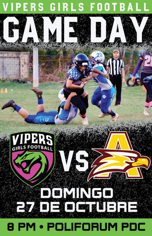 Game Day Poster Vs Aguilas