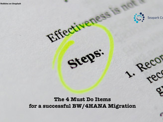 The 4 must do items for a successful BW/4HANA migration