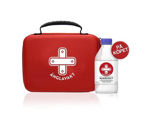 Vid köp av första hjälpen-kit medföljer handsprit 500ml