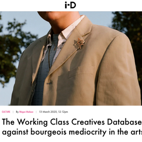 The Working Class Creatives Database is fighting back against bourgeois mediocrity in the arts - iD
