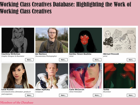 Sick Love Zine in conversation with The Working Class Creatives database