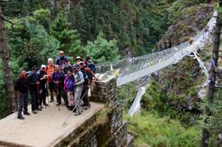 Group photo at the Namche bridge
