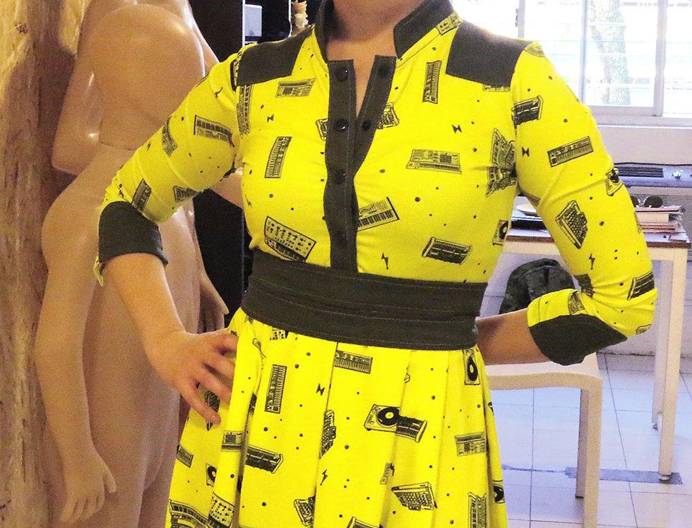 Vestido Las Palabras (sintes amarillo)