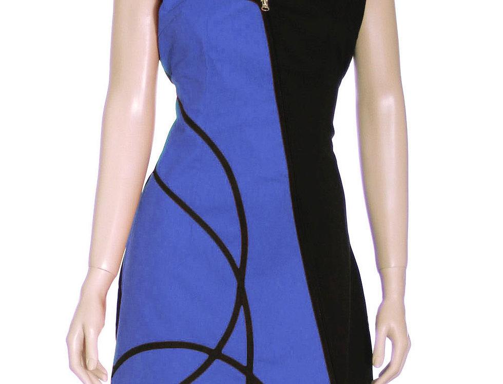 Vestido Diamanta (azul francia)