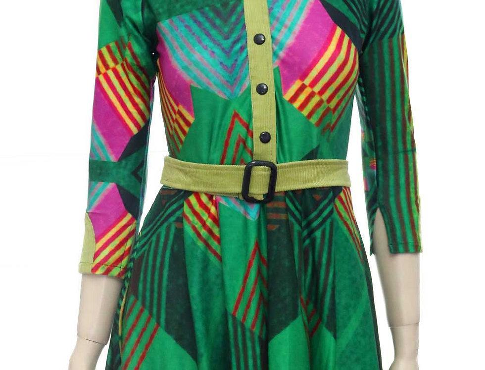 Vestido Las Palabras (est. verde)